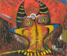 Abol ATIGHETCHI - Gemälde - LA SIESTE DU DIABLE