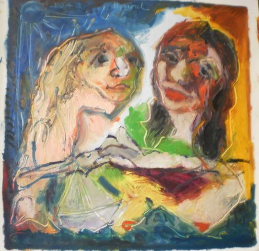 Bernard MOREL - Painting - EVA ET LE PEINTRE