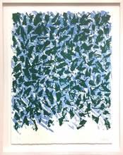 Günther UECKER - Print-Multiple - Schwebend blau-grün