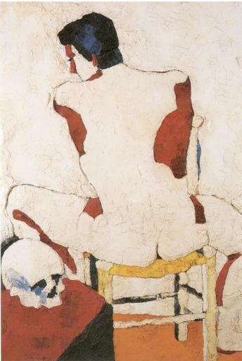 Giovanni TESTORI - Pintura - Ragazzo con teschio