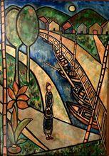 José MIJARES - Pintura - Figure on the Lane