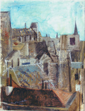 Bengt LINDSTRÖM - Painting - tetti di Parigi
