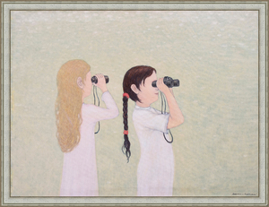 Roman ANTONOV - Painting - Girls with Field-Glasses