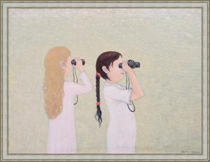 Roman ANTONOV - Pintura - Girls with Field-Glasses