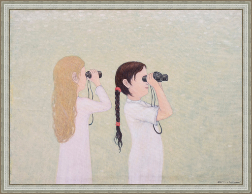 Roman ANTONOV - Peinture - Girls with Field-Glasses