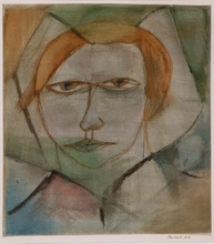 Hans REICHEL - Drawing-Watercolor - Frauenbildnis