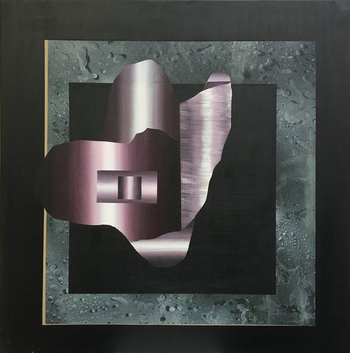 Diego MOVILLA - Peinture - Figure sur fond noir