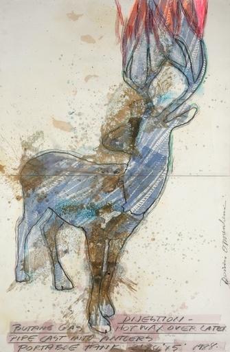 Dennis OPPENHEIM - Dibujo Acuarela - Digestion