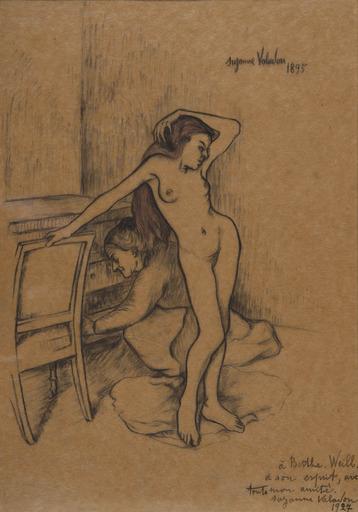 Suzanne VALADON - Disegno Acquarello - Nu dans un intérieur