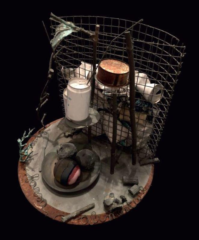 Alik CAVALIERE - Sculpture-Volume - FAO Fame e farsa alimentare oggi