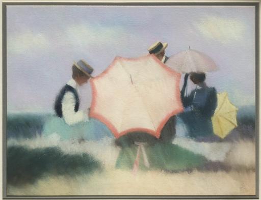 James TYTLER - Dibujo Acuarela - Umbrellas