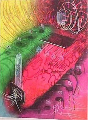 罗贝托•马塔 - 版画 - Attire le gai Venin from Une Saison en Enfer
