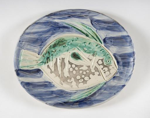 Pablo PICASSO - Céramique - Poisson bleu