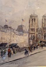 FRANK-WILL - Drawing-Watercolor - Notre Dame de Paris