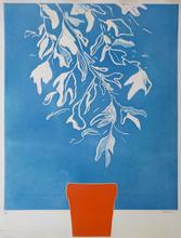 Doroteo ARNÁIZ - Grabado -  Blue Leaves / Feuillage Bleu
