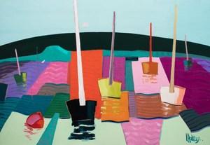 Jean-Pierre MALTESE - Painting - La mer déroule ses vagues