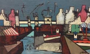 Claude VENARD - Painting - Marée basse