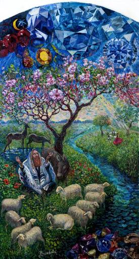 Victor BRINDATCH - Peinture - ISAJAR \ИССАХАР\ knee from 12 tribes of ISRAEL