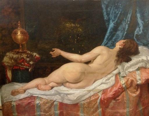 Manuel AMELL Y JORDA - Painting -   Danaé- Nu / Femme - Desnudo