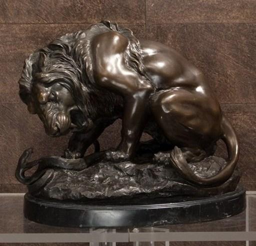 Antoine Louis BARYE - Escultura - Lion au serpent
