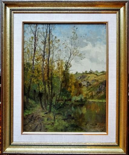 Pierre Ernest BALLUE - Peinture - La Creuse vers la boucle du Pin