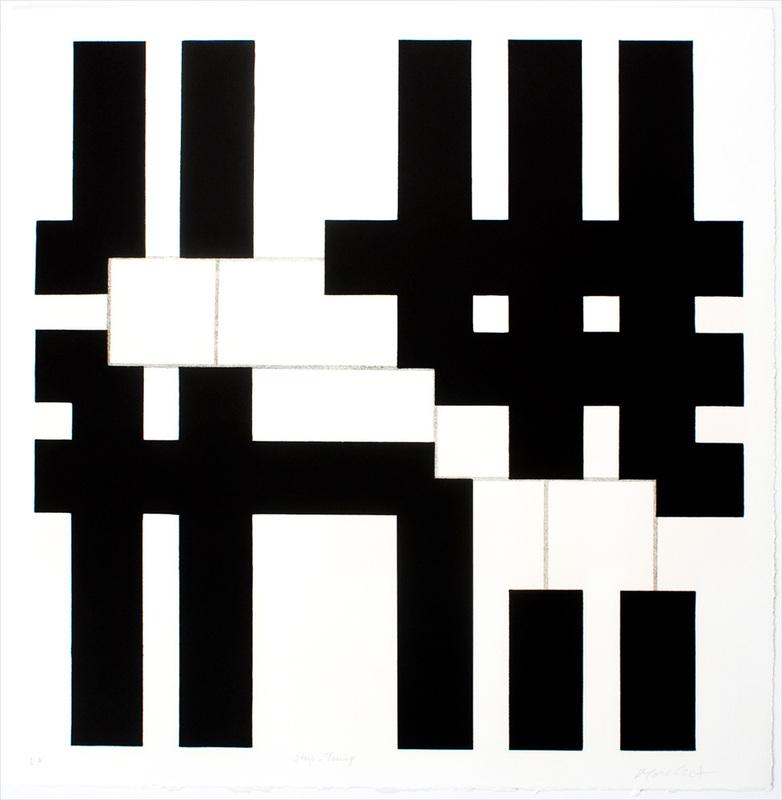 François MORELLET - Estampe-Multiple - Strip-Teasing, 1 = 90°