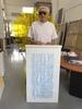 Julio LE PARC - Escultura - Mobile Translucide Bleu
