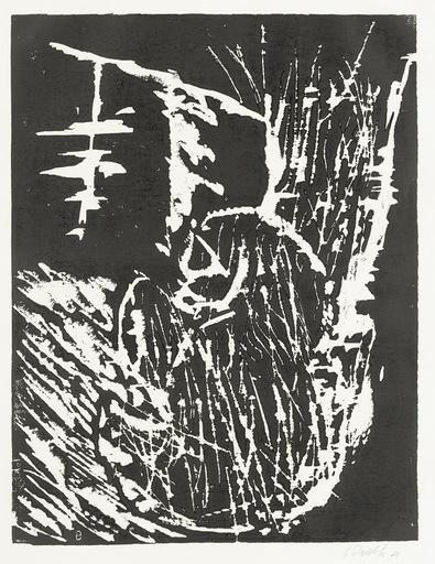 Georg BASELITZ - Grabado - Kopf mit Tannenbaum (Head with Fir Tree)