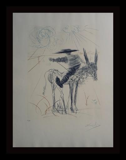 Salvador DALI - Grabado - Don Quixote & Sancho Panza Sancho Panza