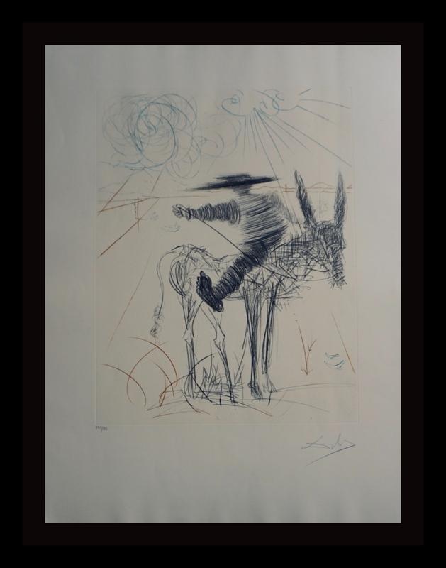 Salvador DALI - Stampa-Multiplo - Don Quixote & Sancho Panza Sancho Panza