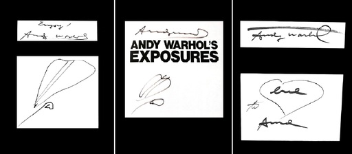 Andy WARHOL - Disegno Acquarello - Love heart & Dollars heart drawings in Tryptic – Enjoy love