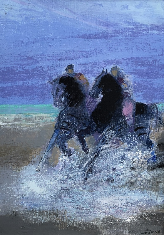 Nicole ROUSSEAU GROLÉE - Gemälde - Les cavaliers