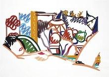 汤姆•韦瑟尔曼 - 版画 - Monica Nude wtih Cezanne
