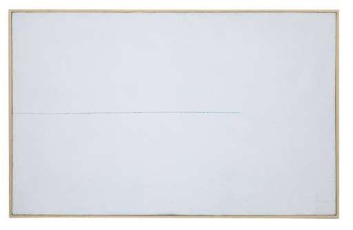 Mario NIGRO - Gemälde - Da l'orizzonte: una variazione azzurro-verde