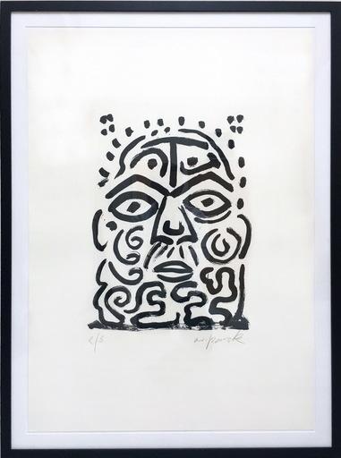 A.R. PENCK - Estampe-Multiple - Selbstportrait