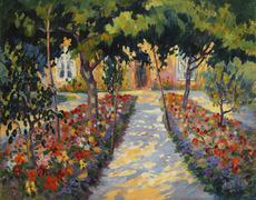 Robert Antoine PINCHON - 绘画 - Chaumière près de Rouen