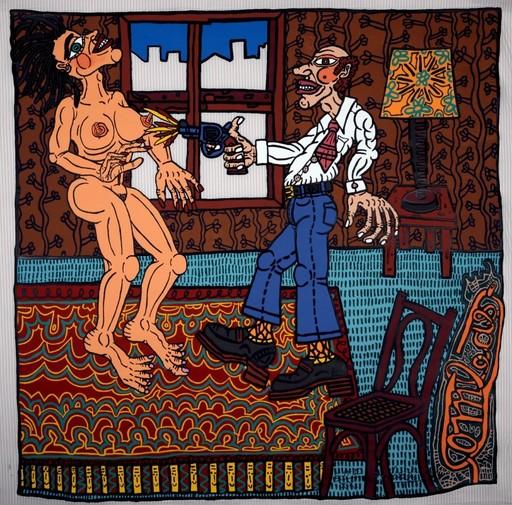 贡巴斯 - 版画 - L'adultère