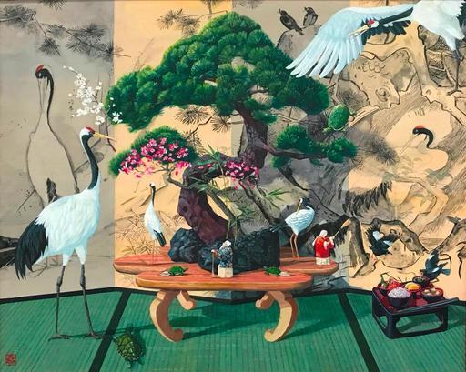 Ryohei MATSUMOTO - Peinture - The Isle of Eternal Youth