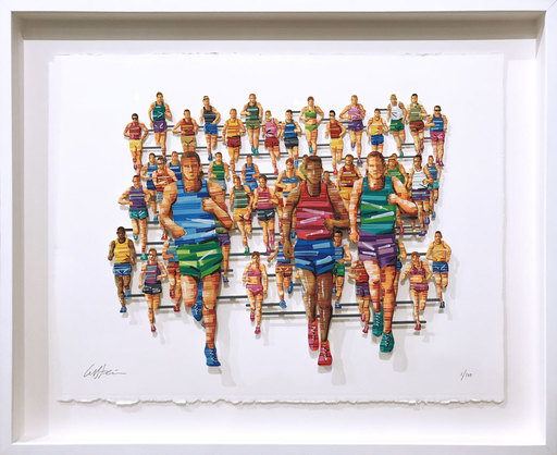 David GERSTEIN - Drawing-Watercolor - Berlin Marathon