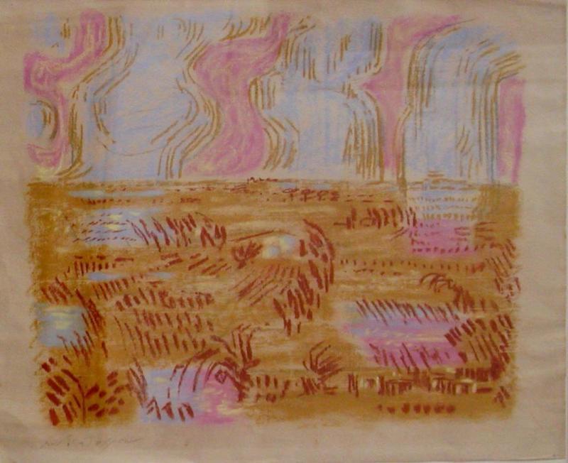 André MASSON - Disegno Acquarello - Camargue