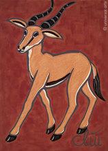 Jacqueline DITT - Peinture - Die flinke Gazelle (The slippy Gazelle)