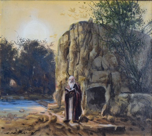 Silvestro PISTOLESI - Pintura - L'eremita