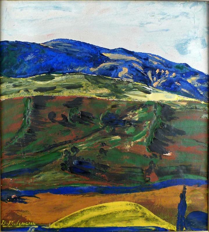 Benjamín PALENCIA PEREZ - Gemälde - The Blue Mountain