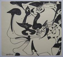 Pierre GASTAUD - Dibujo Acuarela - DESSIN ENCRE ET FEUTRE SIGNÉ HANDSIGNED FELT PEN INK DRAWING