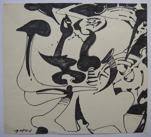 Pierre GASTAUD - Drawing-Watercolor - DESSIN ENCRE ET FEUTRE SIGNÉ HANDSIGNED FELT PEN INK DRAWING