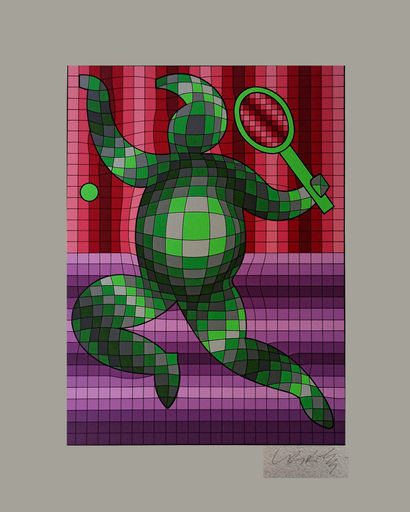 Victor VASARELY - Print-Multiple - Tennis Player