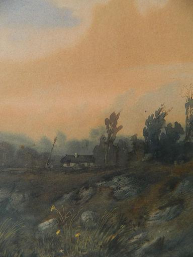 Auguste Clément Joseph HERST - Drawing-Watercolor - PAYSAGE - LANDSCAPE