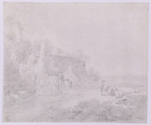 Johann Christian KLENGEL (Attrib.) - Dessin-Aquarelle - Johann Christian Klengel, Drawing, late 18th Century