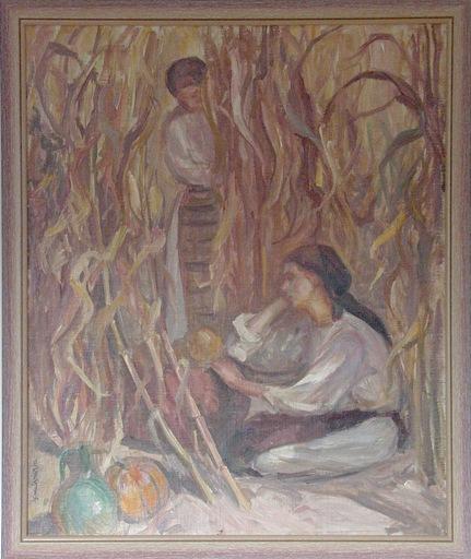 Samuel MÜTZNER - Peinture - Scène de moisson, 1932