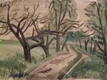 Carl RABUS - Drawing-Watercolor - Landscape
